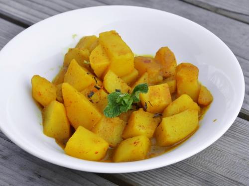 Patates Batna, pommes de terre, curcuma, ail coriandre, menthe