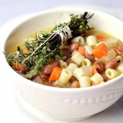 soupe coco-pâtes,soupe,haricots coco,pâtes,coquillettes,ditalini,ditali,tubetti