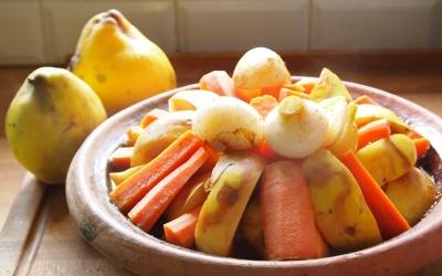 tajine coings-carottes, coings, carottes, tajine, la Cocotte
