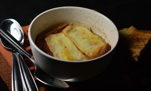 Gratinée au Maroilles, soupe gratinée, gratinée, Maroilles, La Cocotte