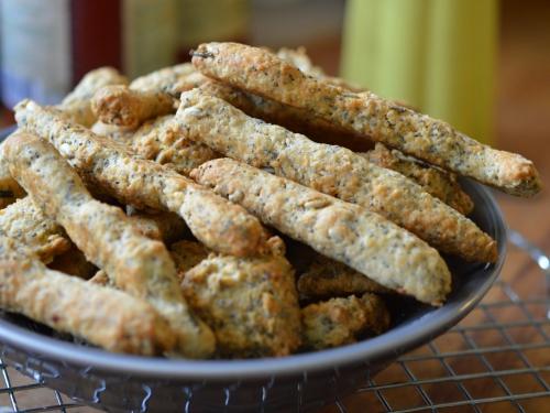 Doigts d'avoine aux graines, flocons d'avoine, graines de tournesol, graines de pavot