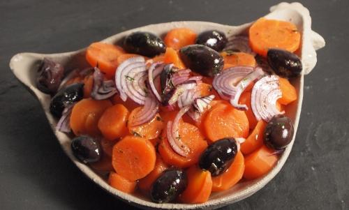 carottes crétoises, carottes, olives noires