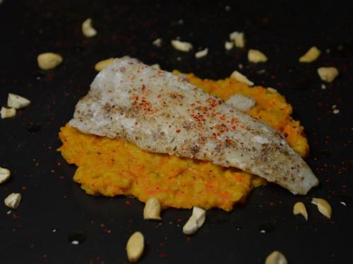 Carottes et lentilles au tahineh, carottes, lentilles, tahineh
