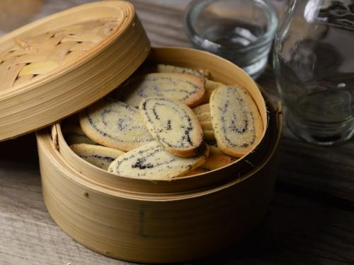Biscuits marbrés aux épices, biscuits, pavot, gingembre, cardamome