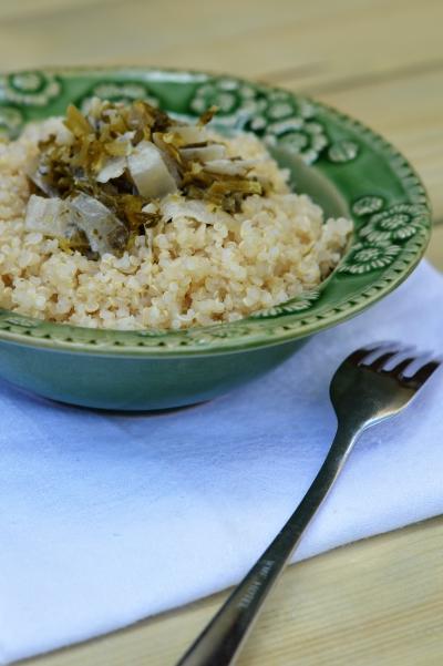 Quinoa au jus de céleri, quinoa, céleri