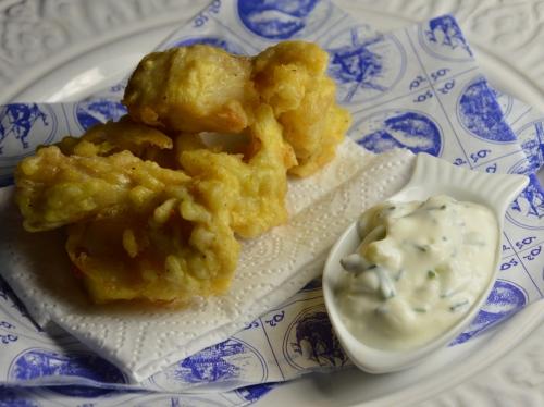 Beignets de poisson à la hollandaise, biegnets de poisson, cabillaud, beignet de cabillaud