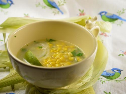 Soupe de maïs à l'œuf, maïs, oeuf, bouillon de volaille