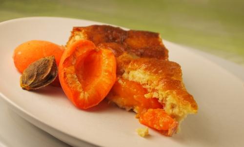 clafoutis abricots et amandes, clafoutis, abricots, amandes