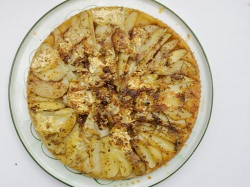 Tarte-patate herbes et gomasio, la cocotte, la voix du nord