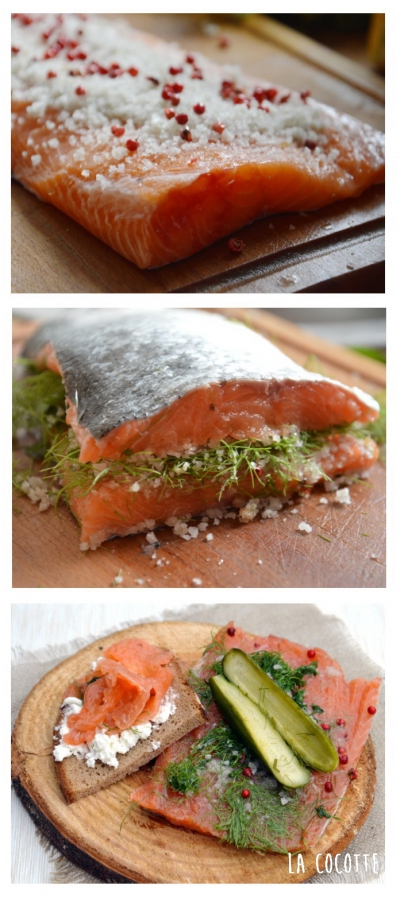 Gravlax coriandre et aneth, saumon, coriandre, aneth, baies roses