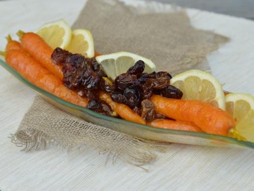 Salade de carottes raisins-canneberges
