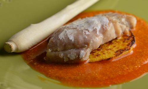 Curry de lieu noir et butternut au lait fermenté, curry thaï, lieu noir, butternut, lait fermenté