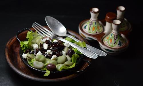 Fèves au lard caramélisé, fèves, lard, vinaigre balsamique