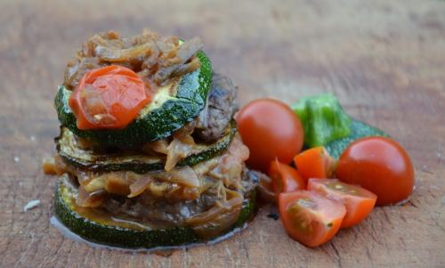Courgette burger, courgettes rondes, steak haché, viande hachée, La Cocotte