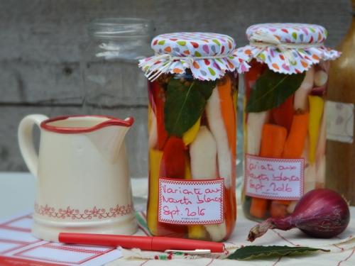Variante aux navets blancs, variante, navets blancs, carottes, poivrons