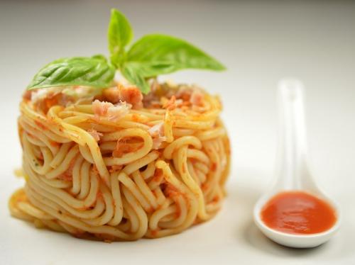 Spaghetti pistou jambon, spaghetti, pistou, sauce au pistou, basilic
