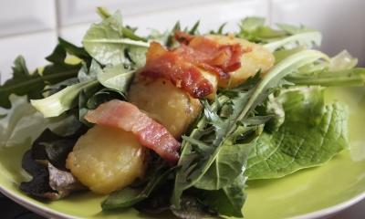 salade de pissenlits, pissenlits