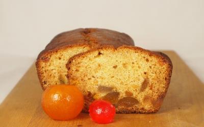 gâteau aux fruits confits, fruits confits