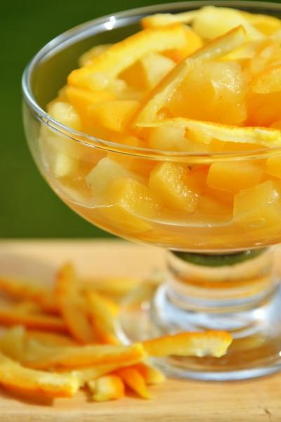Salade de rutabagas à la pomme, rutabagas, oranges, pommes