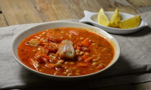 Soupe rouge au cabillaud, soupe, cabillaud, poivron, La Cocotte