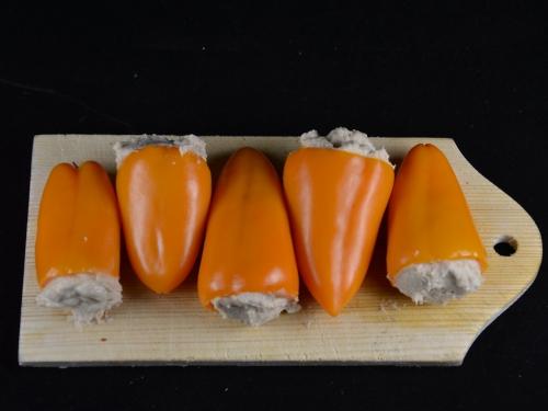 Mini-poivrons aux harengs doux, mini-poivrons, harengs doux, filets de harengs doux