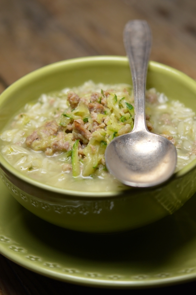Soupette à la courgette, soupe, courgette