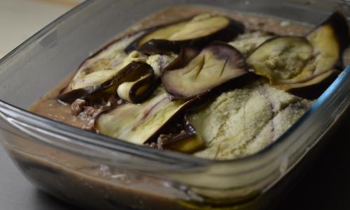 Gratin aubergines-bœuf, gratin, aubergines, boeuf