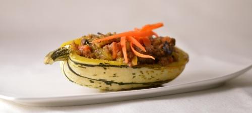 courge delicata farcie à la farkhana,courge delicata,courge sweet potato,françois wiart,rimboval,le chêne dans le courtil,femina,la voix du nord,la cocotte