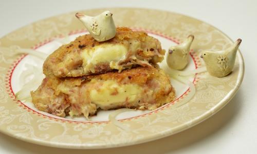 Croustilles jambon-fromage, croustilles, jambon, fromage