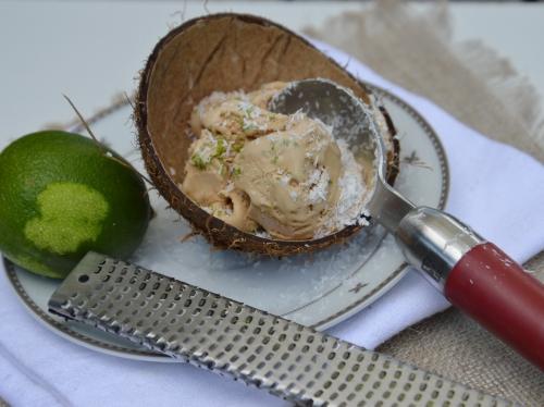 glace,banane,noix de coco