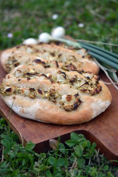 Taloche aux oignons grelots et Chabi du Pévèle, oignons-grelots, fromage, Chabi du Pévèle, taloche