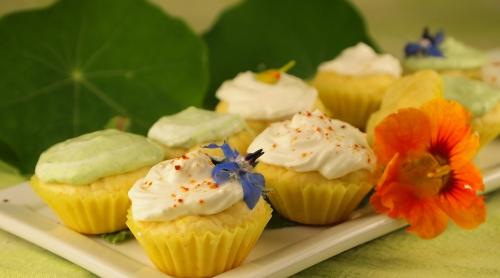 mini-cupcakes aux fleurs, Loïc Boulier, bourrache, capucines, Femina, La Voix du Nord, la Cocotte, Odile Bazin