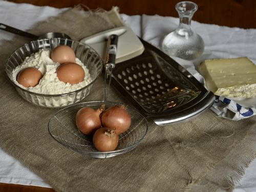 Spätzles-maison au fromage et oignons, spätzles