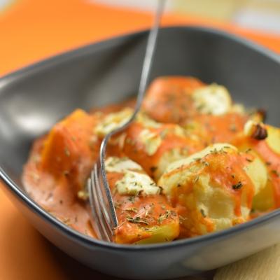Gratin chou-fleur et pommes de terre à la tomate, chou-fleur, gratin
