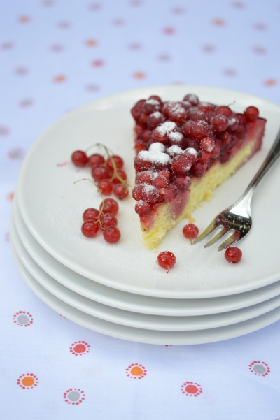 Sponge-cake aux groseilles, sponge-cake, groseilles